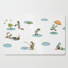 puddles Cutting Board