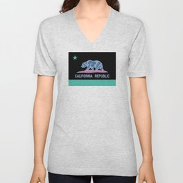 California State Flag with Inverted Colors Unisex V-Neck