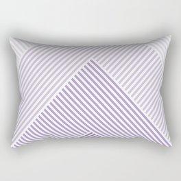 Shades of Purple Abstract geometric pattern Rectangular Pillow