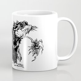 Rat with Flower #3, travel rat Coffee Mug