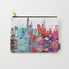 Utopia mixed media city art Carry-All Pouch