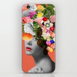 Orange Lady iPhone Skin