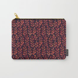 Autumn Branches in Orange and Plum Carry-All Pouch