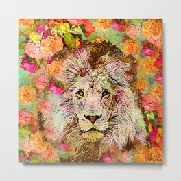 LION AND THE ROSE Metal Print