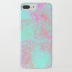 Teal Pink Marble Stars Slim Case iPhone 7 Plus