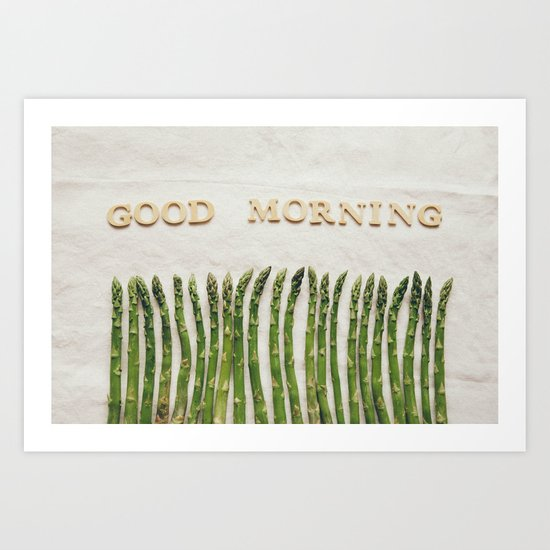 Good Morning Asparagus Art Print