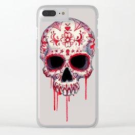 Blood Sugar Skull Clear iPhone Case