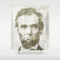lincoln Shower Curtains featuring Abraham Lincoln by Sney1