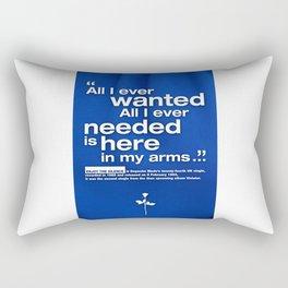 Depeche Enjoy - All I ever wanted - Mode the Silence Rectangular Pillow