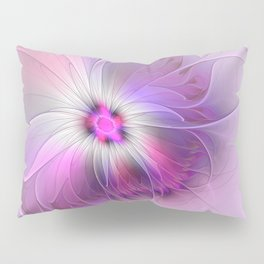 Abstract Flower With Pink And Purple Fractal Pillow Sham