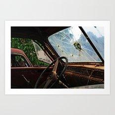 Junkyard Truck. Art Print