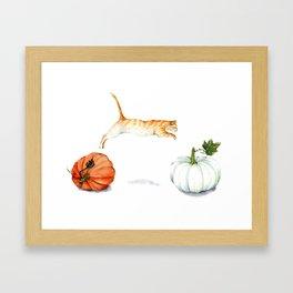 Fall Acrobatics Framed Art Print