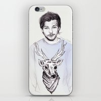 coconutwishes iPhone & iPod Skins featuring Louis and his deer by Coconut Wishes