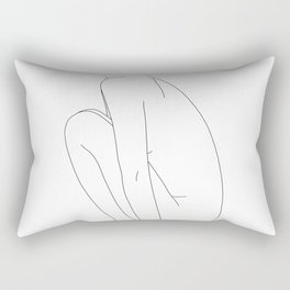 Nude figure line drawing illustration - Dyna Rectangular Pillow