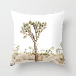Joshua Tree Desert Print Throw Pillow
