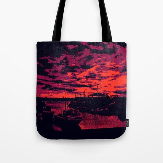 Sunset Over Bristol Harbor 2 Tote Bag