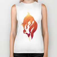 freeminds Biker Tanks featuring Fire Fox by Freeminds