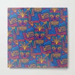Tiki pattern Metal Print