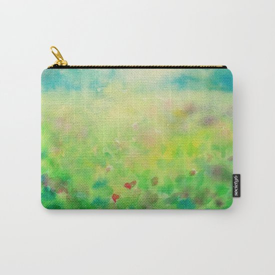 Green & Blue Mystical Spring Carry-All Pouch