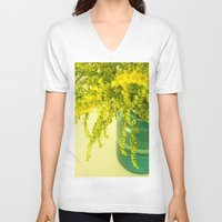 golden V-neck T-shirts featuring Golden by Olivia Joy StClaire