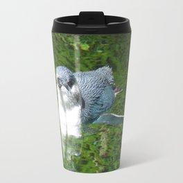 Little Blue Penguin Green Water Travel Mug