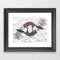 Envious foxes Framed Art Print