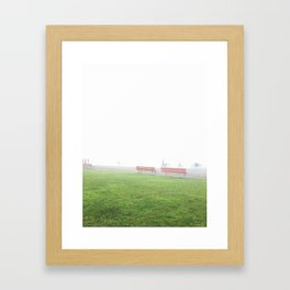 Beach Fog Framed Art Print