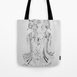 Touch Me Butterfly Tote Bag