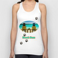 beach Tank Tops featuring Beach Bums by Roger Wedegis