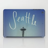seattle iPad Cases featuring Seattle by Leah Flores