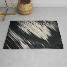 Slight. Black and White Abstract Rug