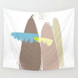 And at times it rains Wall Tapestry