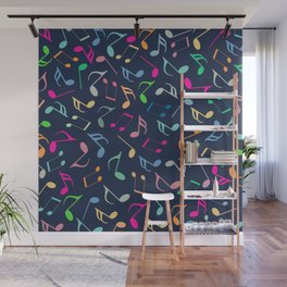Music Colorful Notes III Wall Mural