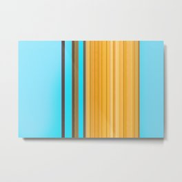 Sablo Lio Blue Yellow Metal Print