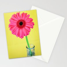 Pink Daisy in bottle Stationery Cards