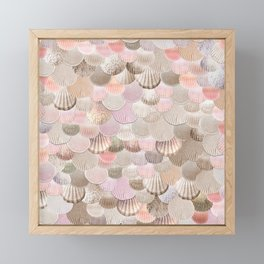 MERMAID SHELLS - CORAL ROSEGOLD Framed Mini Art Print