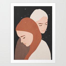 Girls 2a Art Print