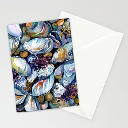 Blue Mussels (Mussel Beach) Stationery Cards