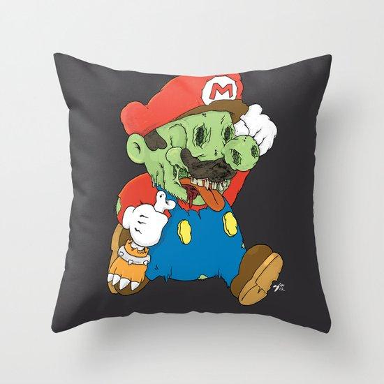 It's A Me Zombio Throw Pillow