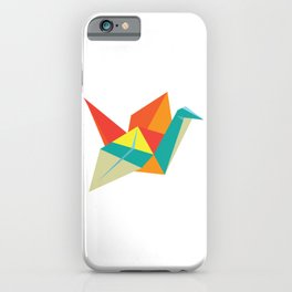 Origami Bird iPhone Case