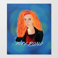 amy pond Canvas Prints featuring Amy Pond by STATE OF GRACCE