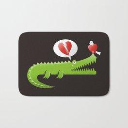 Alligator in Love Bath Mat