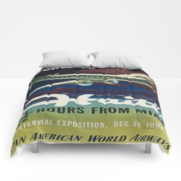 Vintage poster - Haiti Comforters