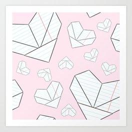 Folded Love Notes Art Print