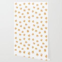 Golden Palm Leaf Wallpaper