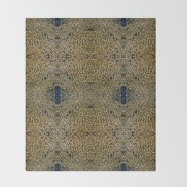 Gold Water Throw Blanket