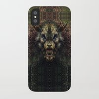 beast iPhone & iPod Cases featuring Beast by Zandonai