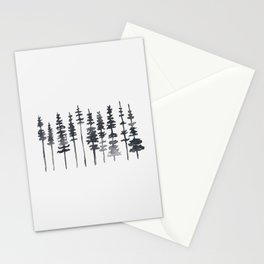 Watercolor Tree Silhouette Stationery Cards