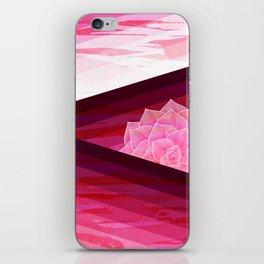 Serene Contemporary Flower Design iPhone Skin