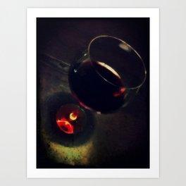 wine cup Art Print